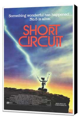 Short Circuit - 27 x 40 Movie Poster - Style B - Museum Wrapped Canvas