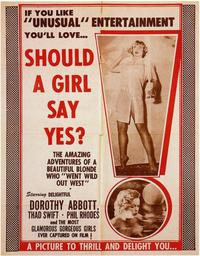 Should a Girl Say Yes? - 11 x 17 Movie Poster - Style A
