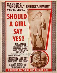 Should a Girl Say Yes? - 43 x 62 Movie Poster - Bus Shelter Style A