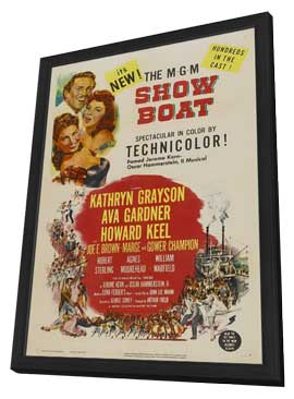 Show Boat - 11 x 17 Movie Poster - Style B - in Deluxe Wood Frame