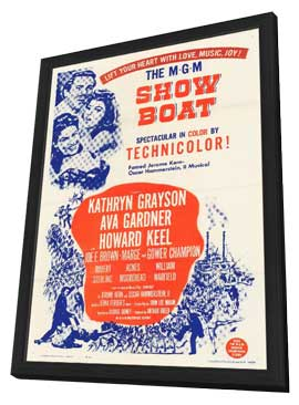 Showboat - 11 x 17 Movie Poster - Style A - in Deluxe Wood Frame