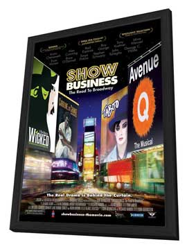 ShowBusiness: The Road to Broadway - 27 x 40 Movie Poster - Style A - in Deluxe Wood Frame