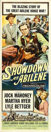 Showdown at Abilene - 14 x 36 Movie Poster - Insert Style A