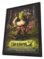 Shrek 2 - 27 x 40 Movie Poster - Style B - in Deluxe Wood Frame