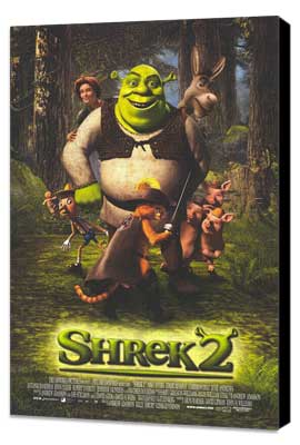 Shrek 2 - 27 x 40 Movie Poster - Style B - Museum Wrapped Canvas