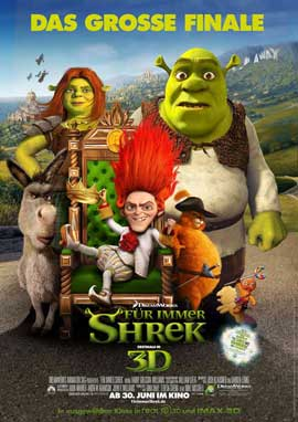 Shrek Forever After - 11 x 17 Movie Poster - German Style F