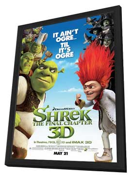 Shrek Forever After - 11 x 17 Movie Poster - Style L - in Deluxe Wood Frame