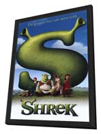 Shrek - 11 x 17 Movie Poster - Style B - in Deluxe Wood Frame