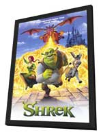 Shrek - 27 x 40 Movie Poster - Style A - in Deluxe Wood Frame