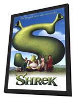 Shrek - 27 x 40 Movie Poster - Style B - in Deluxe Wood Frame