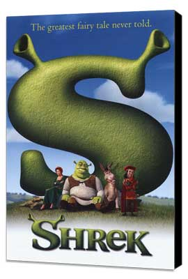 Shrek - 11 x 17 Movie Poster - Style B - Museum Wrapped Canvas
