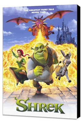 Shrek - 27 x 40 Movie Poster - Style A - Museum Wrapped Canvas