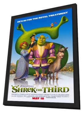 Shrek the Third - 11 x 17 Movie Poster - Style J - in Deluxe Wood Frame