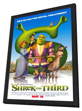 Shrek the Third - 27 x 40 Movie Poster - Style C - in Deluxe Wood Frame
