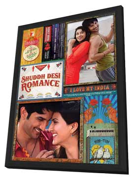 Shuddh Desi Romance - 27 x 40 Movie Poster - Indian Style A - in Deluxe Wood Frame