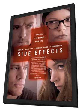 Side Effects - 27 x 40 Movie Poster - Style A - in Deluxe Wood Frame