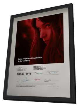 Side Effects - 27 x 40 Movie Poster - Style B - in Deluxe Wood Frame