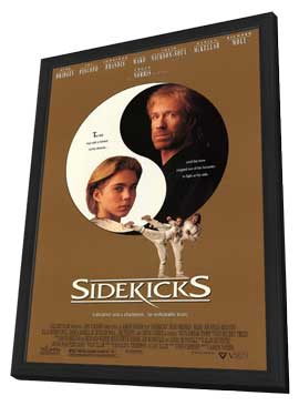 Sidekicks - 27 x 40 Movie Poster - Style A - in Deluxe Wood Frame