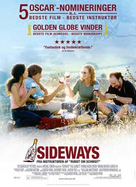 Sideways - 27 x 40 Movie Poster - Danish Style A