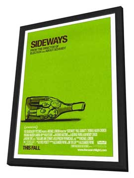 Sideways - 27 x 40 Movie Poster - Style A - in Deluxe Wood Frame