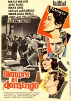 Siempre es domingo - 11 x 17 Movie Poster - Spanish Style A