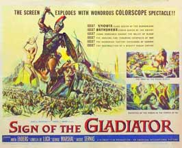 Sign of the Gladiator - 11 x 14 Movie Poster - Style B