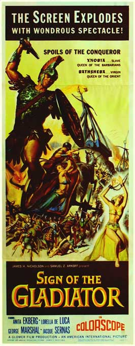 Sign of the Gladiator - 14 x 36 Movie Poster - Insert Style A