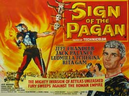 Sign of the Pagan - 30 x 40 Movie Poster UK - Style A