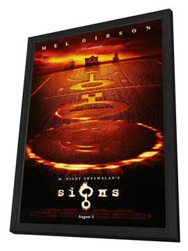 Signs - 27 x 40 Movie Poster - Style C - in Deluxe Wood Frame