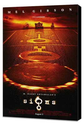 Signs - 27 x 40 Movie Poster - Style C - Museum Wrapped Canvas