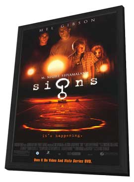 Signs - 11 x 17 Movie Poster - Style C - in Deluxe Wood Frame