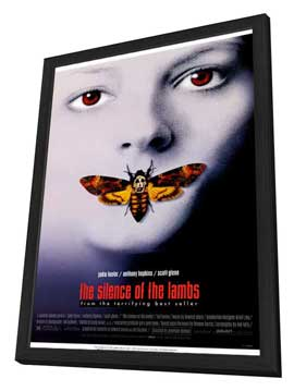 The Silence of the Lambs - 11 x 17 Movie Poster - Style A - in Deluxe Wood Frame