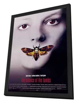 The Silence of the Lambs - 27 x 40 Movie Poster - Style C - in Deluxe Wood Frame