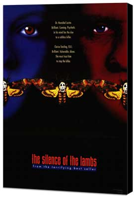 The Silence of the Lambs - 27 x 40 Movie Poster - Style A - Museum Wrapped Canvas