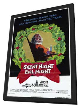 Silent Night Evil Night - 11 x 17 Movie Poster - Style A - in Deluxe Wood Frame