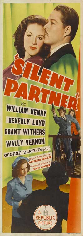 Silent Partner - 14 x 36 Movie Poster - Insert Style A