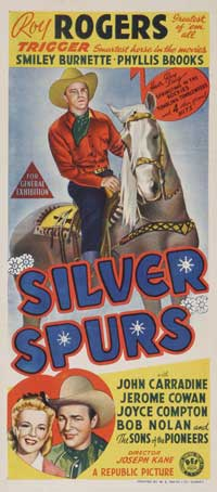 Silver Spurs - 13 x 30 Movie Poster - Australian Style A