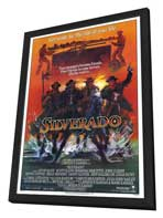 Silverado - 27 x 40 Movie Poster - Style A - in Deluxe Wood Frame