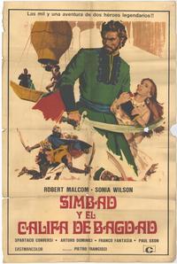 Simbad e il califfo di Bagdad - 27 x 40 Movie Poster - Spanish Style A