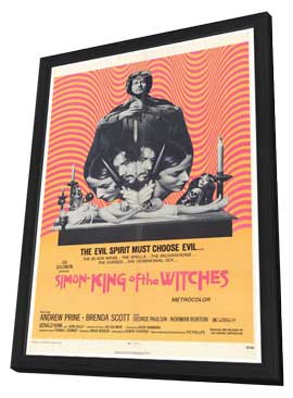 Simon, King of the Witches - 27 x 40 Movie Poster - Style A - in Deluxe Wood Frame