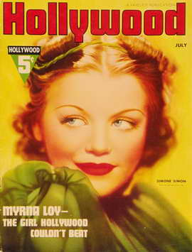 Simone Simon - 11 x 17 Hollywood Magazine Cover 1930's Style A