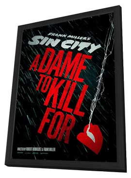 Sin City: A Dame to Kill For - 11 x 17 Movie Poster - Style A - in Deluxe Wood Frame