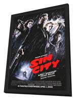 Sin City - 11 x 17 Movie Poster - Style F - in Deluxe Wood Frame