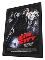 Sin City - 27 x 40 Movie Poster - Style F - in Deluxe Wood Frame