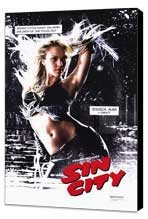 Sin City - 27 x 40 Movie Poster - Style E - Museum Wrapped Canvas