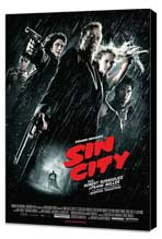 Sin City - 27 x 40 Movie Poster - German Style A - Museum Wrapped Canvas