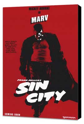Sin City - 11 x 17 Movie Poster - Style B - Museum Wrapped Canvas
