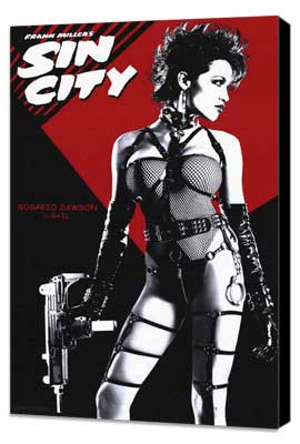 Sin City - 11 x 17 Movie Poster - Style C - Museum Wrapped Canvas