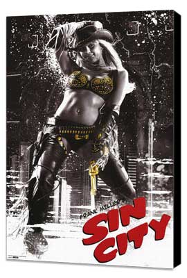 Sin City - 11 x 17 Movie Poster - Style K - Museum Wrapped Canvas