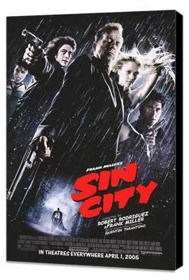 Sin City - 27 x 40 Movie Poster - Style F - Museum Wrapped Canvas